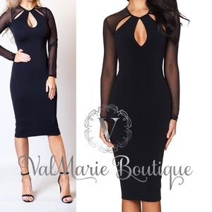 🤗ARRIVED- Sexy bodycon little black date dress